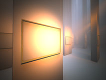 Bilderrahmen in der Galerie Vektor Abbildung