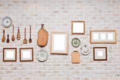 Bilderrahmen in der Küchenwand Stockfotografie