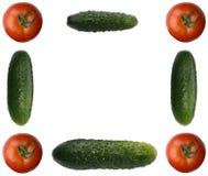 Bilderrahmen gebildet aus unterschiedlichem Gemüse heraus Stockfotografie