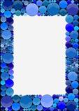 Bilderrahmen gemacht von den blauen Kreisen Stockfotografie