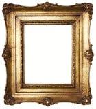 Bilderrahmen-Gold (Pfad eingeschlossen) Stockfotos