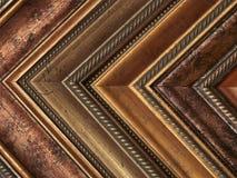 Bilderrahmen prüft Gold und Bronze stockbild
