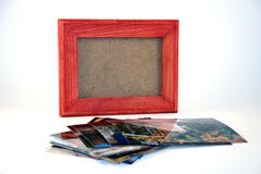 Bilderrahmen und Abbildungen Stockbild