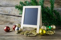 Bilderrahmen- und Weihnachtsdekorationen Lizenzfreies Stockfoto