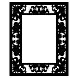 Bilderrahmen-Vektor ENV Hand gezeichnet, Vektor, ENV, Logo, Ikone, crafteroks, Schattenbild Illustration für unterschiedlichen Ge stock abbildung