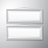 Bilderrahmen-weißes horizontales Stockbilder