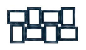 Bildfotorahmen der blauen Farbe Lizenzfreies Stockfoto