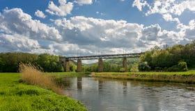 Bildhafte Ansicht einer Zugbrücke in Deutschland Lizenzfreies Stockbild