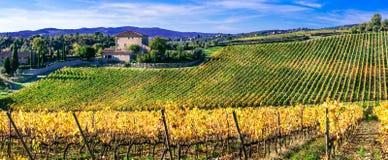 Bildhafte Toskana, Chiantiregion, Italien stockbild
