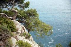 Bildhaftes blaues adriatisches Meer Lizenzfreies Stockbild