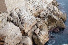 Bildhaftes blaues adriatisches Meer Stockfotografie