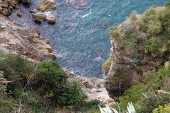 Bildhaftes blaues adriatisches Meer Stockfoto