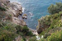 Bildhaftes blaues adriatisches Meer Stockbild