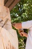 Bildhauer bei der Arbeit Lizenzfreie Stockfotos