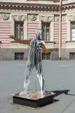 Bildhauerische Arbeiten von Vasily Klyukin im Hof des Mikhailovsky ziehen sich zurück Stockfotos
