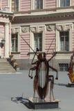 Bildhauerische Arbeiten von Vasily Klyukin im Hof des Mikhailovsky ziehen sich zurück Stockbilder