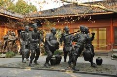 Bildhauerische Gruppe in Hangzhou China Stockfotos