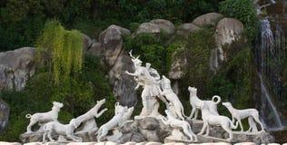 Bildhauerische Gruppe in Italien Stockfotografie