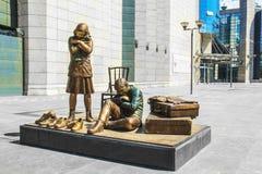 Bildhauerisches Ensemble am Stadtzentrum von Skopje, Mazedonien lizenzfreie stockfotos