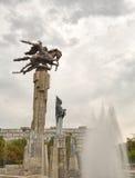 Bildhauerisches komplexes Manas. Bischkek, Kirgisistan Stockbilder