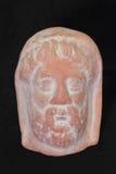 Bildhauerisches Porträt eines antiken Kopfes Stockfotos