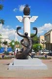 Bildhauerisches Wappen von Ulan-Ude, Buryatia Lizenzfreies Stockfoto