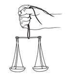 Bildillustration der Gerechtigkeitsskala Stockfotos