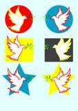 Bildillustration des Taubenfriedens Stock Abbildung