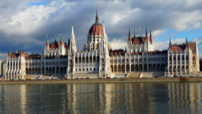 The bilding of Parliament in Budapest, Hungary Royalty Free Stock Image
