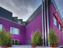 Bilding violeta fotografia de stock royalty free