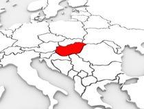 Bildkarte-Europa-Kontinent der Ungarn-Land-Zusammenfassungs-3D Lizenzfreie Stockfotos