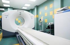 Bildläsare för CT (beräknad tomography) i ett oncologysjukhus Royaltyfria Foton