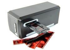 Bildläsare för glidbanor och filmer royaltyfria foton