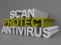 Bildläsningen skyddar och antivirus Fotografering för Bildbyråer