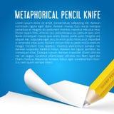 Bildlig blyertspenna för abstrakt vektorbakgrund vektor illustrationer