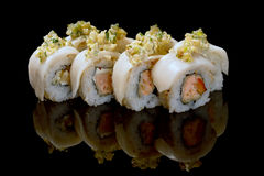 bildmakien rullar sushi Royaltyfria Foton