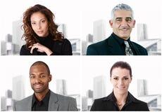 Bildmosaik av fyra businesspeople royaltyfri bild