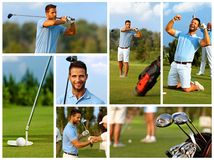 Bildmosaik av golf royaltyfri foto