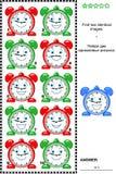 Bildrätsel - finden Sie zwei identische Bilder von Uhren Lizenzfreie Stockfotografie