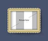 Bildram, lyxig ramgräns, vektorillustration Royaltyfri Foto