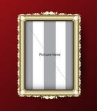 Bildram, lyxig ramgräns, vektorillustration Fotografering för Bildbyråer