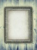 Bildram på träbakgrund Arkivfoton