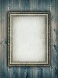 Bildram på träbakgrund Royaltyfria Bilder