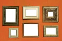 Bildramar på väggen Arkivbilder