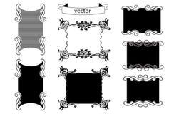 Bildramen formar vektorn stock illustrationer
