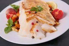 Bildreihe unterschiedliche Nahrung auf weißem Hintergrund Stockbild