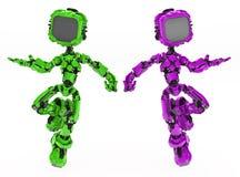 Bildschirm-Roboter-Farben Stockbilder