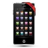 Bildschirm- smartphone Stockbilder