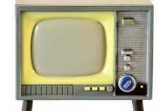 Bildschirm wenigen Retro- Fernsehens getrennt Stockfotografie