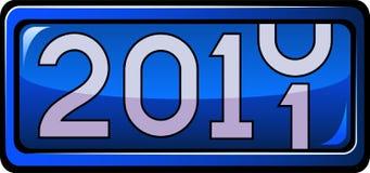 Bildschirmanzeige 2011 des neuen Jahres vektor abbildung